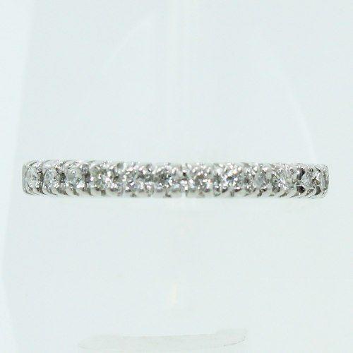 Anel De Ouro Branco 18k750 Diamantes 2516