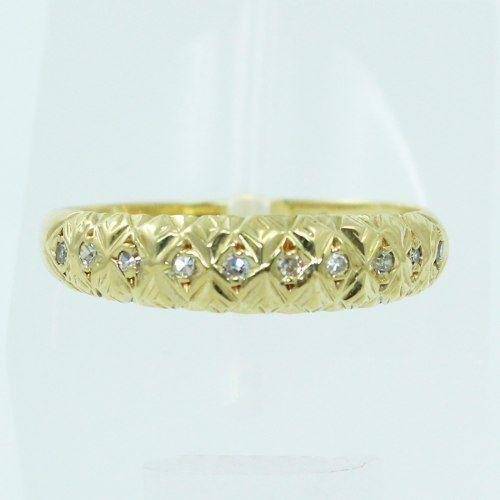 Anel De Ouro 18k750 Diamantes 1510
