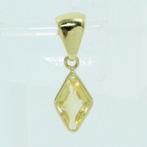 Pingente De Ouro 18k750 Citrino P715