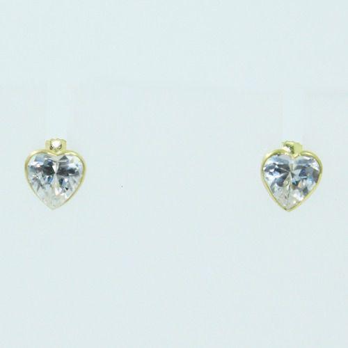 Brincos De Ouro 18k750 Zircônias B886