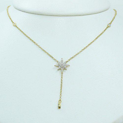 Colar De Ouro 18k750 Diamantes C340