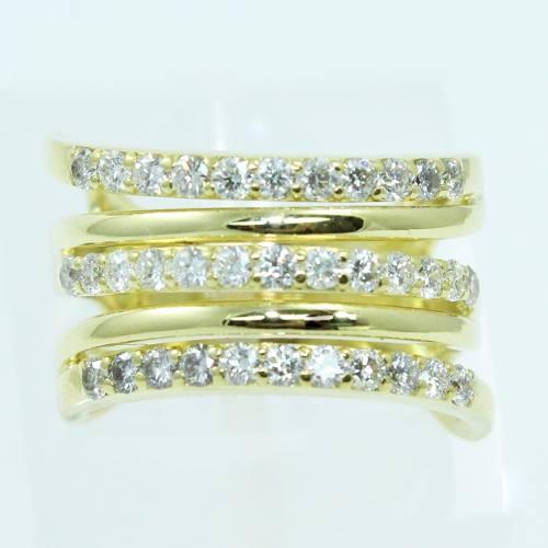 Anel De Ouro 18k750 Diamantes 2595