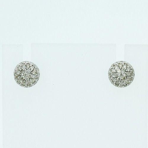 Brincos De Ouro Branco 18k750 Diamantes B889