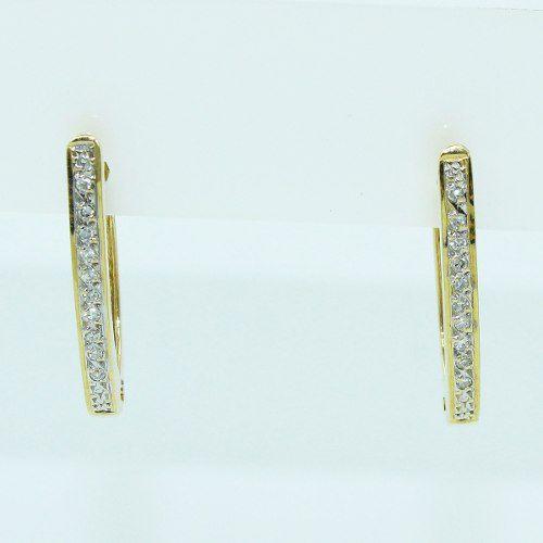 Brincos De Ouro 18k750 Diamantes B890