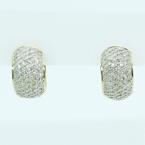 Brincos De Ouro 18k750 Diamantes B891