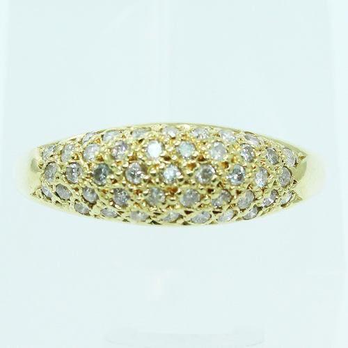 Anel De Ouro 18k750 Diamantes 2594