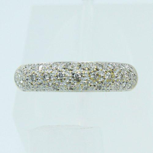 Anel De Ouro 18k750 Diamantes 1558