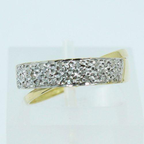 Anel De Ouro 18k750 Diamantes 545