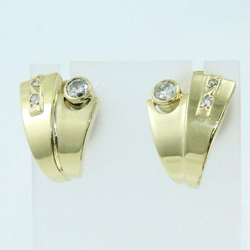 Brincos De Ouro 18k750 Diamantes B262