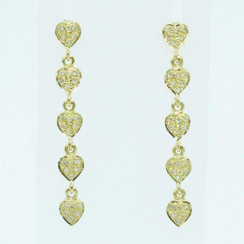 Brincos De Ouro 18k750 Diamantes B309