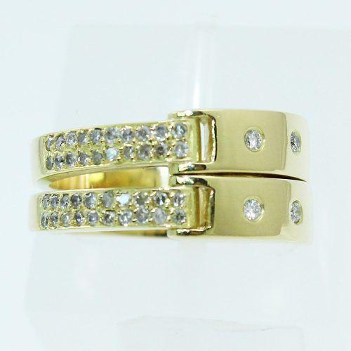 Anel De Ouro 18k750 Diamantes 673