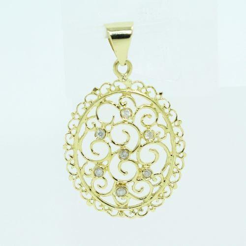 Pingente De Ouro 18k750 Diamantes P722