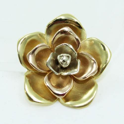 Pingente De Ouro 18k750 Flor P724