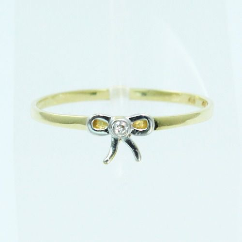 Anel De Ouro 18k750 Diamante Laço Vivara 2598