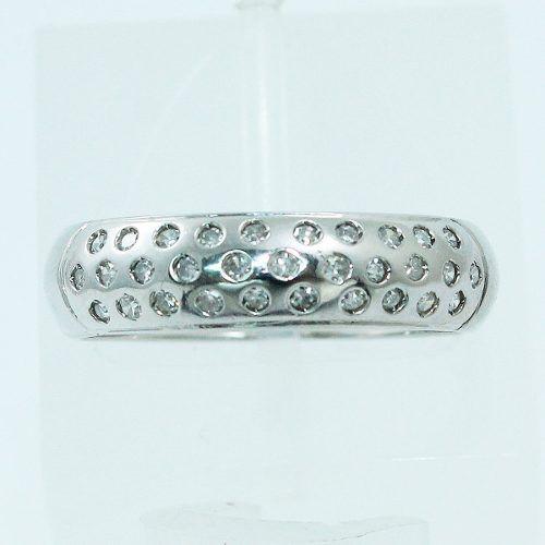 Anel De Ouro Branco 18k750 Diamantes 530