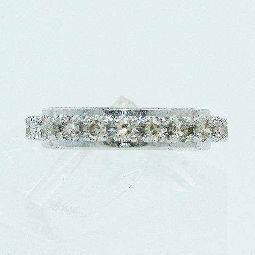 Anel Aliança Inteira 18k750 Diamantes 865