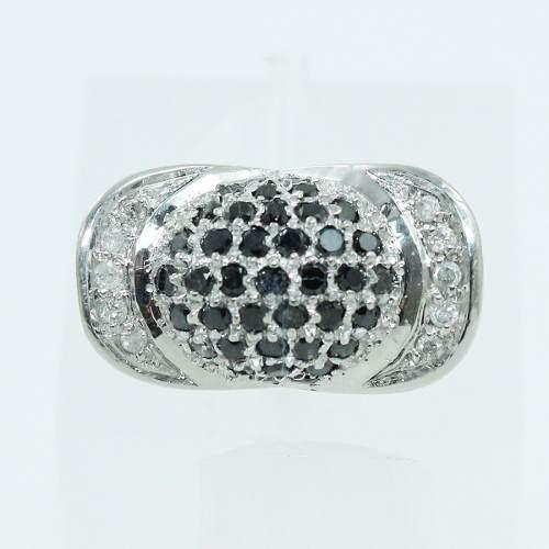 Anel De Ouro Branco 18k750 Diamantes 1559