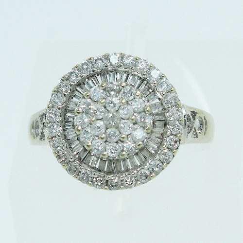 Anel De Ouro Branco 18k750 Diamantes 2084