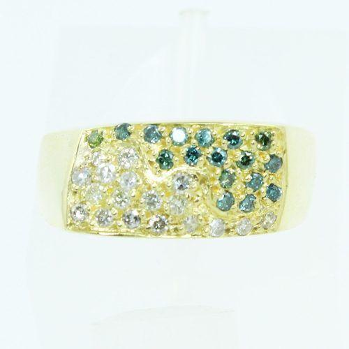Anel De Ouro 18k750 Diamantes 2596