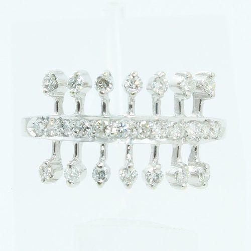 Anel De Ouro 18k750 Diamantes 2407