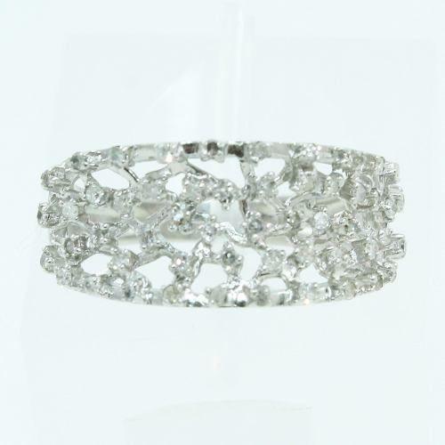 Anel De Ouro Branco 18k750 Diamantes Vivara 785