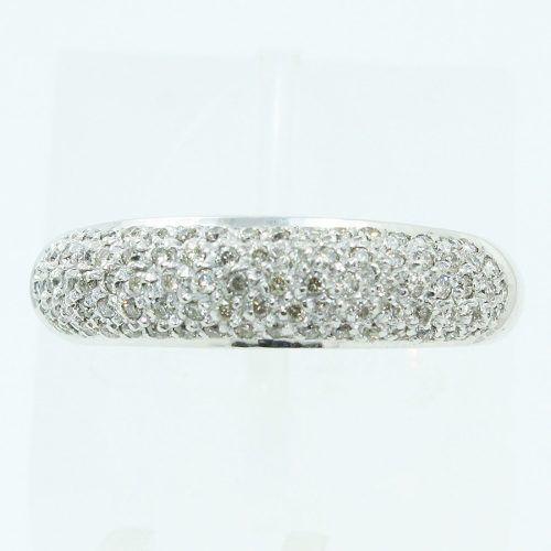 Anel Ouro Branco 18k750 Diamantes 798