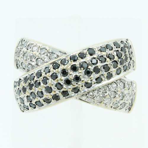 Anel De Ouro18k750 Pave Diamantes Mistos 719