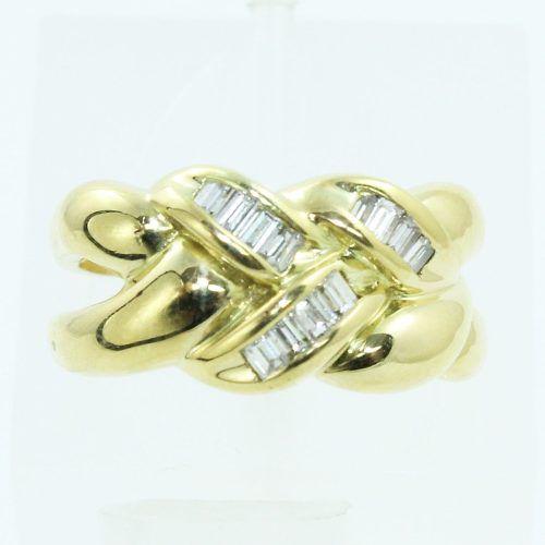 Anel De Ouro 18k750 Diamantes 658