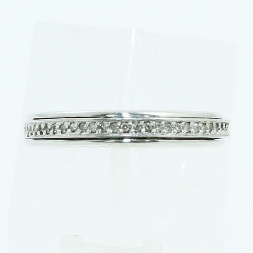 Anel De Ouro Branco 18k750 Diamantes 1800