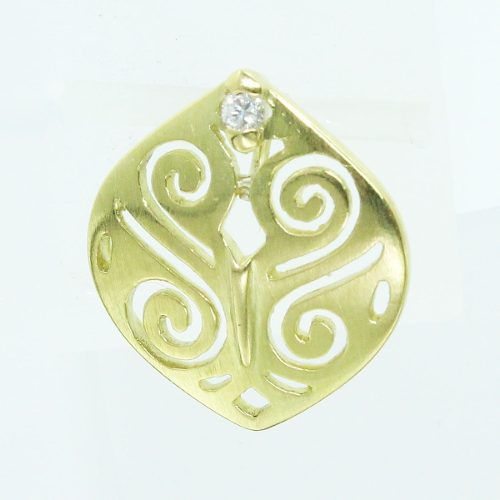 Pingente De Ouro 18k750 Diamante P500