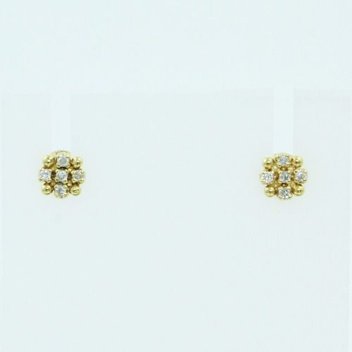 Brincos De Ouro 18k750 Diamantes Vivara B893