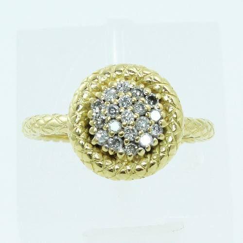 Anel De Ouro 18k750 Diamantes 2600