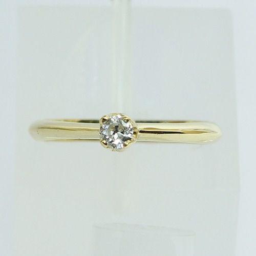 Anel De Ouro 18k750 Diamante Solitário 2602 Sol10