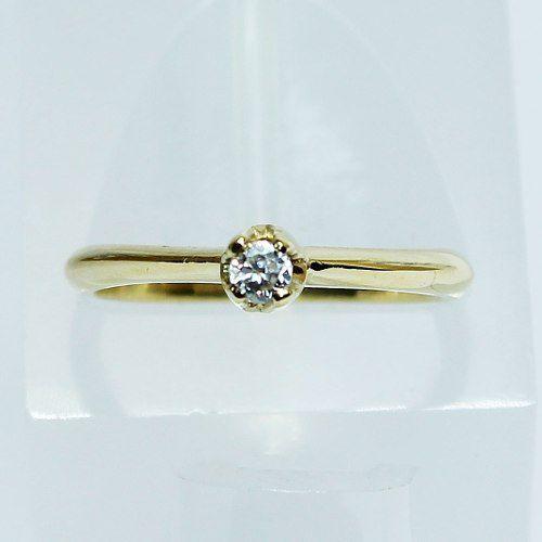 Anel De Ouro 18k750 Diamante Solitário 2601 Sol01