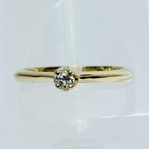Anel De Ouro 18k750 Diamante Solitário 2603 Sol02