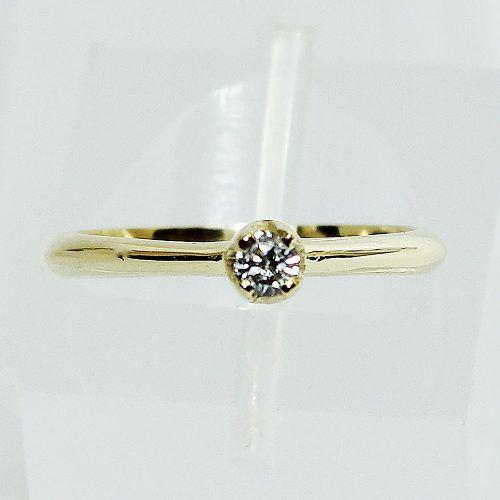 Anel De Ouro 18k750 Diamante Solitário 2607 Sol06