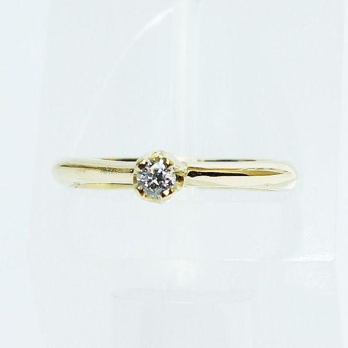 Anel De Ouro 18k750 Diamante Solitário 2606 Sol05