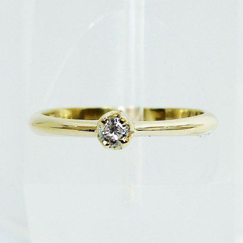 Anel De Ouro 18k750 Diamante Solitário 2608 Sol07