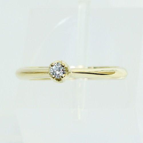 Anel De Ouro 18k750 Diamante Solitário 2609 Sol08