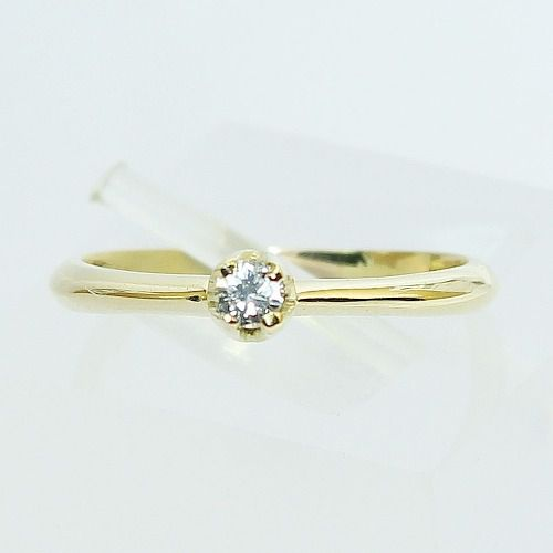 Anel De Ouro 18k750 Diamante Solitário 2610 Sol09
