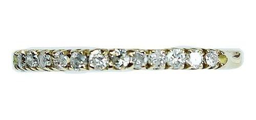 Anel Ouro 18k750 Diamantes 12x S/j Ft/gt 1151