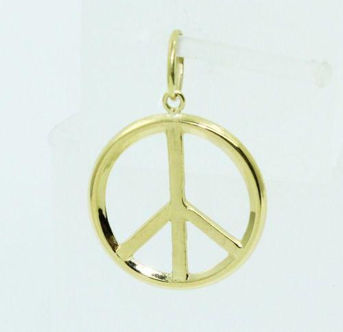 Pingente De Ouro 18k750 Simbolo Da Paz P659