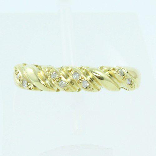Anel De Ouro 18k750 Diamantes 1022