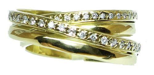 Anel De Ouro 18k750 Diamantes 12x S/j Ft/gt 2613