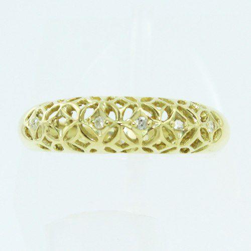 Anel De Ouro 18k750 Diamantes 987