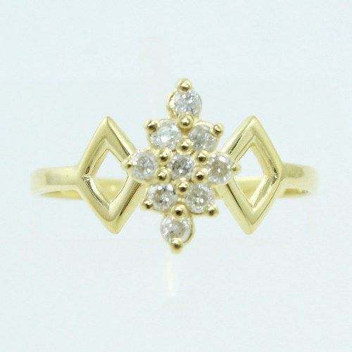 Anel De Ouro 18k750 Diamantes 508
