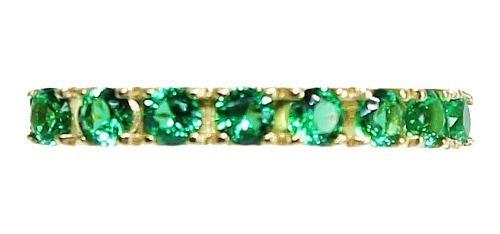 Anel De Ouro 18k750 Peridotos 12x S/j Ft/gt 2532