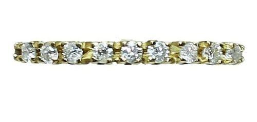 Anel De Ouro 18k750 Diamantes 12x S/j Ft/gt 2612