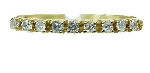 Anel De Ouro 18k750 Diamantes 12x S/j Ft/gt 2619