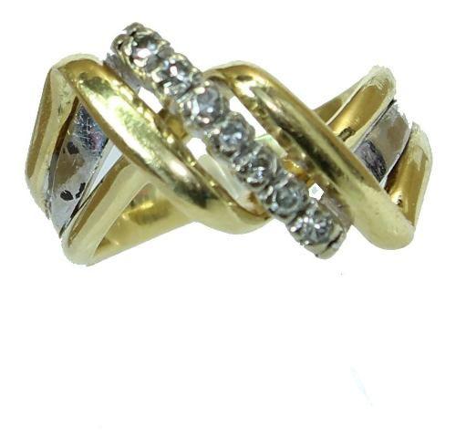 Anel De Ouro 18k750 Diamantes 12x S/j Ft/gt 2618